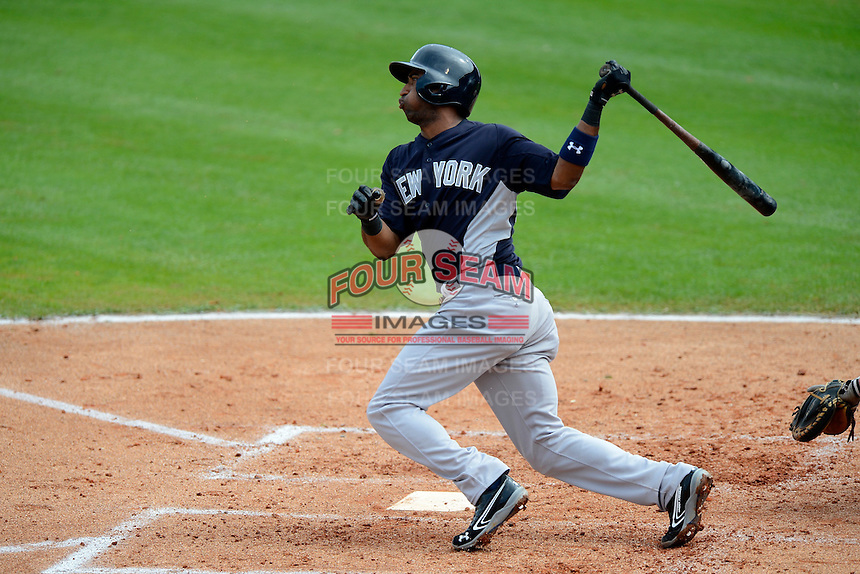 New York Yankees shortstop Eduardo Nunez #26 during a Spring Training game against the Philadelphia Phillies at Bright House Field on February 26, 2013 in Clearwater, Florida.  Philadelphia defeated New York 4-3.  (Mike Janes/Four Seam Images)