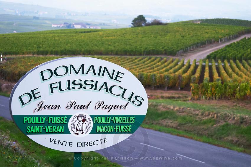 vineyard domaine fussiacus macon burgundy france