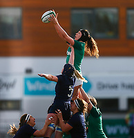 2nd February 2020; Energia Park, Dublin, Leinster, Ireland; International Womens Rugby, Six Nations, Ireland versus Scotland; Aoife McDermott of Ireland collects the line out ball