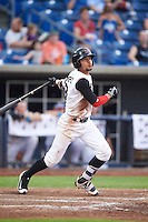 Quad Cities River Bandits shortstop Kristian Trompiz (3) at bat during a game against the Bowling Green Hot Rods on July 24, 2016 at Modern Woodmen Park in Davenport, Iowa.  Quad Cities defeated Bowling Green 6-5.  (Mike Janes/Four Seam Images)