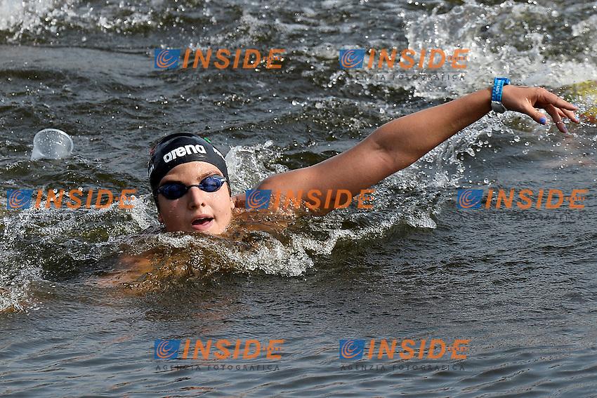 Ilaria Raimondi Italia<br /> Open Water 25Km <br /> 32nd LEN European Championships  <br /> Berlin, Germany 2014  Aug.13 th - Aug. 24 th<br /> Day05 - Aug. 17<br /> Photo Andrea Staccioli/Deepbluemedia/Insidefoto