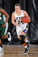 11 November 2011:  FIU's Carmen Miloglav (24) handles the ball in the second half as the FIU Golden Panthers defeated the Jacksonville University Dolphins, 63-37, at the U.S. Century Bank Arena in Miami, Florida.