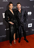 09 February 2019 - Beverly Hills, California - Robin Thicke, April Geary. The Recording Academy And Clive Davis' 2019 Pre-GRAMMY Gala held at the Beverly Hilton Hotel.  <br /> CAP/ADM/BT<br /> &copy;BT/ADM/Capital Pictures