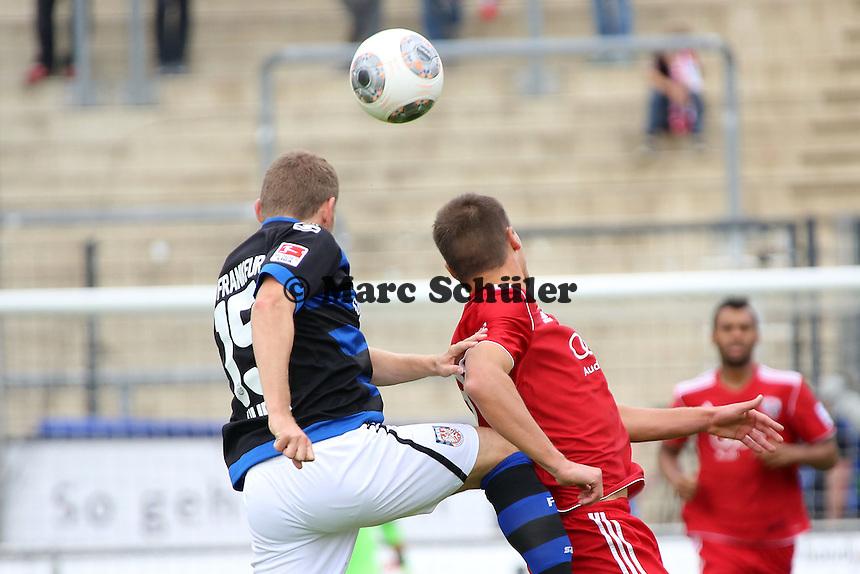 Alexander Huber (FSV) setzt sich durch - FSV Frankfurt vs. FC Ingolstadt, 8. Spieltag, Frankfurter Volksbank Stadion