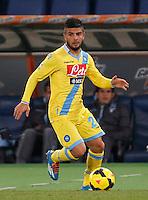 Lorenzo Insigne durante l'incontro di calcio di Serie A  Lazio Napoli   allo  Stadio Olimpico  di Romai , 2 Dicembre 2013<br /> Foto Ciro De Luca