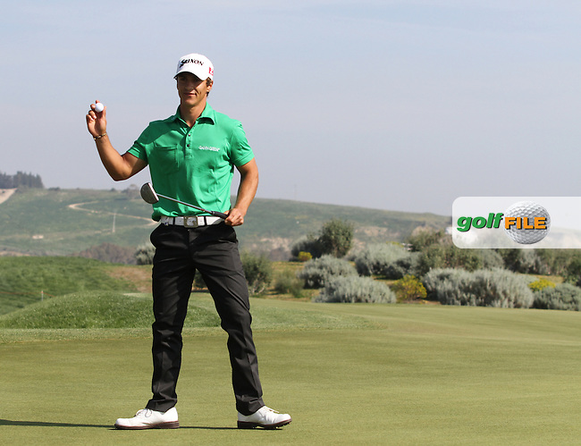 Thorbjorn Olesen (DEN) on the 16th on Day 4 of the 2012 Sicilian Open at Verdura Golf and Spa Resort, Sicily, Italy...(Photo Jenny Matthews/www.golffile.ie)