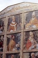 Europe/France/Provence-Alpes-Côte d'Azur/84/Vaucluse/Avignon: détail mur peint représentant les Papes d'Avignon par Agnés Saint-Gal de Pons (2000)