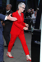 NEW YORK, NY - OCTOBER 8: Jamie Lee Curtis seen leaving Good Morning America promoting the newest Halloween film in New York City on October 08, 2018. <br /> CAP/MPI/RW<br /> &copy;RW/MPI/Capital Pictures