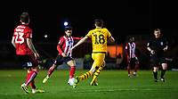 Lincoln City's Liam Bridcutt scores the opening goal<br /> <br /> Photographer Chris Vaughan/CameraSport<br /> <br /> The EFL Sky Bet League One - Lincoln City v Milton Keynes Dons - Tuesday 11th February 2020 - LNER Stadium - Lincoln<br /> <br /> World Copyright © 2020 CameraSport. All rights reserved. 43 Linden Ave. Countesthorpe. Leicester. England. LE8 5PG - Tel: +44 (0) 116 277 4147 - admin@camerasport.com - www.camerasport.com