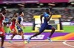 Justin Gatlin (USA) qualifies in the mens 100m heats. IAAF World athletics championships. London Olympic stadium. Queen Elizabeth Olympic park. Stratford. London. UK. 04/08/2017. ~ MANDATORY CREDIT Garry Bowden/SIPPA - NO UNAUTHORISED USE - +44 7837 394578