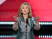 United States Representative Marsha Blackburn (Republican of Tennessee) makes remarks at the 2016 Republican National Convention held at the Quicken Loans Arena in Cleveland, Ohio on Thursday, July 21, 2016.<br /> Credit: Ron Sachs / CNP<br /> (RESTRICTION: NO New York or New Jersey Newspapers or newspapers within a 75 mile radius of New York City)