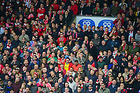 Lincoln City fans cduring the second half<br /> <br /> Photographer Andrew Vaughan/CameraSport<br /> <br /> Vanarama National League - Lincoln City v Macclesfield Town - Saturday 22nd April 2017 - Sincil Bank - Lincoln<br /> <br /> World Copyright &copy; 2017 CameraSport. All rights reserved. 43 Linden Ave. Countesthorpe. Leicester. England. LE8 5PG - Tel: +44 (0) 116 277 4147 - admin@camerasport.com - www.camerasport.com