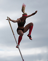 Sandy Morris (United States) competing in the pole vault during the Muller Grand Prix  IAAF Diamond League meeting at Alexander Stadium, Perry Barr, Birmingham.<br /> Picture by Alan Stanford +44 7915 056117<br /> 18/08/2018