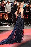 "Elizabeth Olsen arrives for the ""Godzilla"" premiere at the Odeon Leicester Square, London. 11/05/2014 Picture by: Steve Vas / Featureflash"