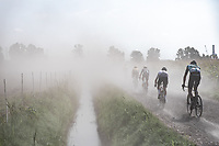 riding in the dust<br /> <br /> Antwerp Port Epic 2020 <br /> One Day Race: Antwerp to Antwerp 183km; of which 28km are cobbles and 35km is gravel/off-road<br /> Bingoal Cycling Cup 2020