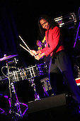 Percussionist, Taylor Moore opened for legendary rhythm and blues musician, Roy Ayers Saturday night.
