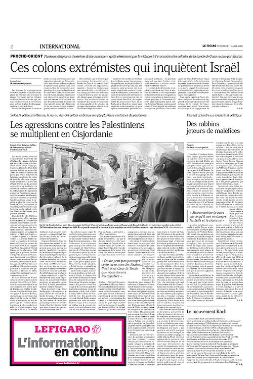Le Figaro, France - April 1, 2005
