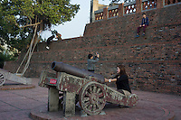 Tourists visit Anping Fort in Tainan, Taiwan, 2015. Anping Fort used to be called Fort Zeelandia which was a fortress built over ten years from 1624 to 1634 by the Dutch East India Company (VOC), in the town of Anping (Tainan) on the island of Formosa (present-day Taiwan), during their 38-year rule over the western part of that island.
