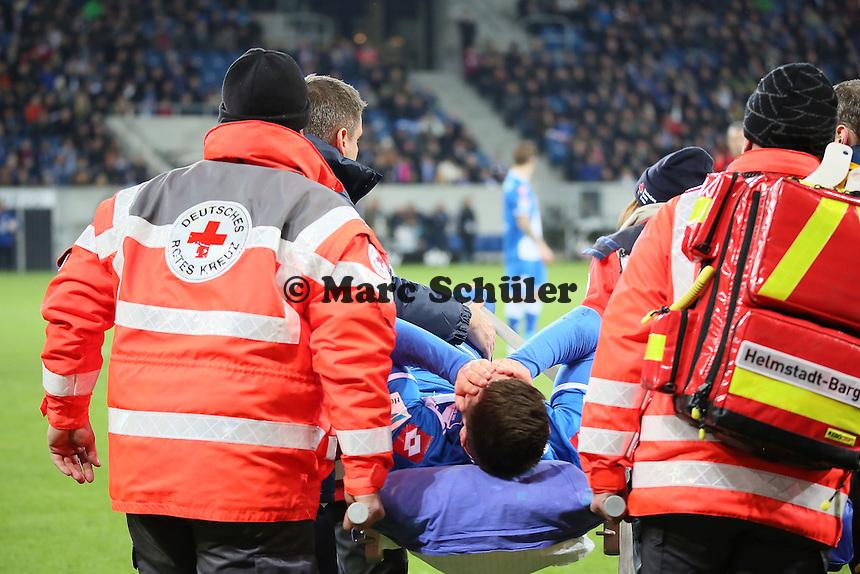Niklas Süle (Hoffenheim) ist schwer verletzt - TSG 1899 Hoffenheim vs. Eintracht Frankfurt, WIRSOL Neckar Arena Sinsheim