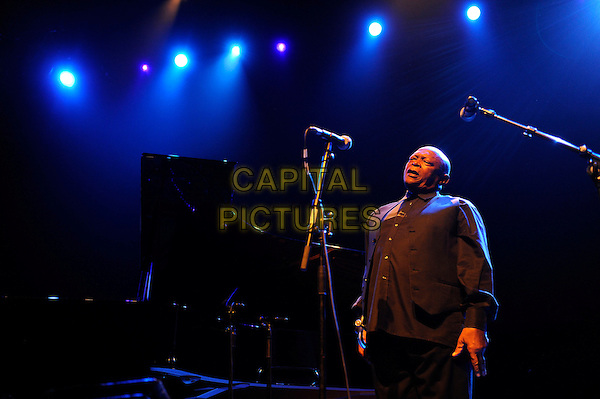 LONDON, ENGLAND - November 15: Hugh Masekela performing in concert at the Royal Festival Hall on November 15, 2013 in London, England.<br /> CAP/MAR<br /> &copy; Martin Harris/Capital Pictures