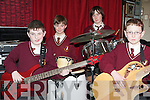 SCHOOL BAND: Learning how to play at the McCormack & Corvenieo Variety Show at the Holy Family NS, Tralee on Friday l-r: Frank Kennedy, Simon Kerrisk, Paul Magee.