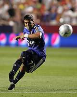 Real Salt Lake Forward and MLS All Star, Javier Morales in the Everton FC win over Major League Soccer All Stars, July 29, 2009 at Rio Tinto Stadium in Sandy, Utah.