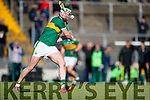 Padraig Boyle Kerry in action against  Carlow in Div 2a of the National Hurling League at Austin Stack Park Tralee on Sunday.