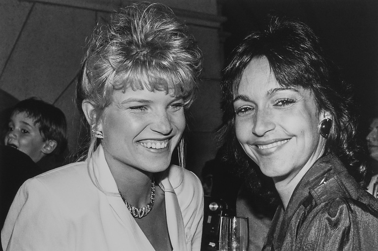 Monica Hall (Chuck Norris girlfriend) and Rep. Bill Young's wife Beverly (who's seen the film 2 times already) on May 21, 1990. (Photo by Laura Patterson/CQ Roll Call via Getty Images)