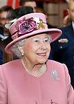 Queen Elizabth Attends HMS Ocean De-Commissioning