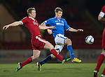 St Johnstone v Aberdeen.....07.12.13    SPFL<br /> Barry Robson and David Wotherspoon<br /> Picture by Graeme Hart.<br /> Copyright Perthshire Picture Agency<br /> Tel: 01738 623350  Mobile: 07990 594431