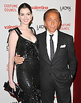 "Anne Hathaway & Valentino at The West Coast Premiere of ""Valentino: The Last Emperor"" held at LACMA in Los Angeles, California on April 01,2009                                                                     Copyright 2009 RockinExposures"
