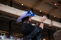 DEL MAR, CA - NOVEMBER 03: A fan watches action on Day 1 of the 2017 Breeders' Cup World Championships at Del Mar Thoroughbred Club on November 3, 2017 in Del Mar, California. (Photo by Carson Dennis/Eclipse Sportswire/Breeders Cup)