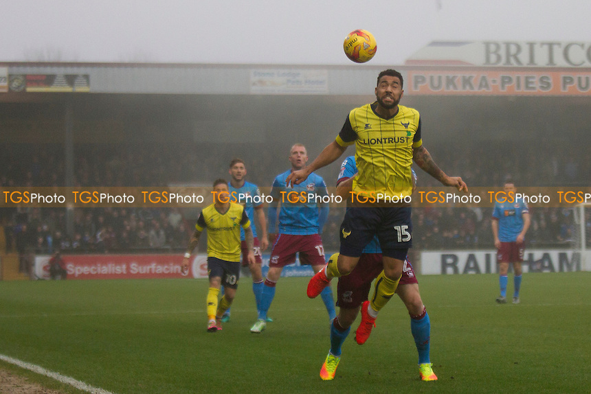 Kane Hemmings of Oxford during Scunthorpe United vs Oxford United, Sky Bet EFL League 1 Football at Glanford Park on 26th November 2016