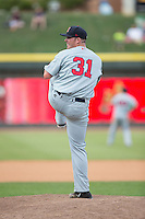 Salem Red Sox relief pitcher Austin Maddox (31) in action against the Winston-Salem Dash at BB&T Ballpark on May 31, 2015 in Winston-Salem, North Carolina.  The Red Sox defeated the Dash 6-5.  (Brian Westerholt/Four Seam Images)