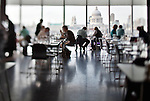 View from the Tate Modern gallery restaurant, with St Paul cathedral on the background, London, England, United Kingdom