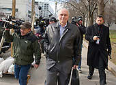 Former United States Environmental Protection Agency executive John Beale, who pretended to work for the CIA to avoid the office, departs U. S. District Court in Washington, D.C. on Wednesday, December 18, 2013.  Beale was sentenced to 32 months in prison for defrauding the EPA and had to repay the almost $1.3 million he collected in unearned salary and bonuses. <br /> Credit: Ron Sachs / CNP<br /> (RESTRICTION: NO New York or New Jersey Newspapers or newspapers within a 75 mile radius of New York City)