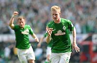 FUSSBALL   1. BUNDESLIGA   SAISON 2012/2013    32. SPIELTAG SV Werder Bremen - TSG 1899 Hoffenheim             04.05.2013 Kevin De Bruyne (SV Werder Bremen) bejubelt  seinen Treffer zum 1:0