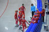 SCHAATSEN: HEERENVEEN: IJsstadion Thialf, 03-06-2013, training merkenteams op zomerijs, Team LIGA, ©foto Martin de Jong