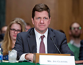 Jay Clayton, of New York, United States President Donald J. Trump's nominee to be a Member of the Securities and Exchange Commission (SEC), prior to giving testimony during his confirmation hearing before the US Senate Committee on Banking, Housing, and Urban Affairs on Capitol Hill in Washington, DC on Thursday, March 23, 2017.<br /> Credit: Ron Sachs / CNP