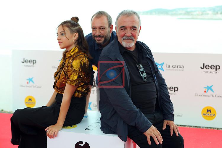 52 FESTIVAL INTERNACIONAL DE CINEMA FANTASTIC DE CATALUNYA. SITGES 2019.<br /> Cuerdas-Photocall.<br /> Paula del Rio, Jose Luis Montesinos & Miguel Angel Jenner.