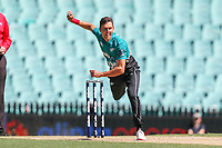13th March 2020, Sydney Cricket Ground, Sydney, Australia;  Trent Boult of the Blackcaps bowling. International One Day Cricket. Australia versus New Zealand Blackcaps, Chappell–Hadlee Trophy, Game 1.