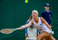 London, England, 6 July, 2019, Tennis,  Wimbledon, Womans single: Kiki Bertens (NED)<br /> Photo: Henk Koster/tennisimages.com
