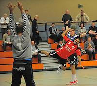 &Uuml;mit Cengiz, Mitte, spielt am Sonntag, 09.10.11, in Recklinghausen f&uuml;r den HSC Eintracht Recklinghausen gegen die HSG Gevelsberg. Recklinghausen gewann das Spiel mit 34:24.<br /> Foto: Rainer Raffalski / WAZ FotoPool