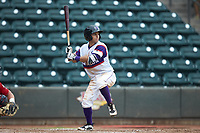Nick Madrigal (4) of the Winston-Salem Rayados at bat against the Potomac Nationals at BB&T Ballpark on August 12, 2018 in Winston-Salem, North Carolina. The Rayados defeated the Nationals 6-3. (Brian Westerholt/Four Seam Images)