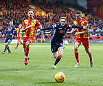 04.05.2018 Partick Thistle v Ross County: Davis Keilor-Dunn with Martin Woods and Paul McGinn