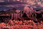 Battleship Mountain, West of Hanksville, Utah (Infrared)