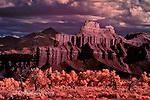 Battleship Mountain, West of Hanksville, Utah (Infrared)