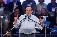 SAO PAULO, SP, 24 JUNHO 2012 - CONVENÇAO PSDB  Aloysio Nunes durante convenção do PSDB para lancamento da candidatura do tucano José Serra no Ginásio Mauro Pinheiro (Ibirapuera) nesse domingo, 24. FOTO: VANESSA CARVALHO - BRAZIL PHOTO PRESS.