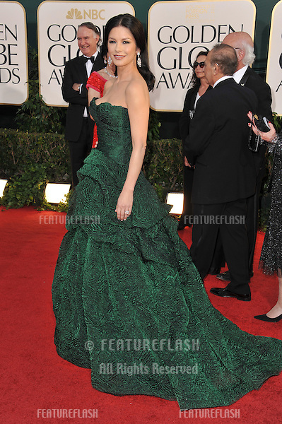 Catherine Zeta-Jones at the 68th Annual Golden Globe Awards at the Beverly Hilton Hotel..January 16, 2011  Beverly Hills, CA.Picture: Paul Smith / Featureflash