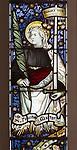 Mary Anne Garrett Memorial stained glass window  female martyrs 1897, Church of Saint Margaret, Leiston, Suffolk, England, UK saint Felicity by C.E. Kempe ( 1837-1907)